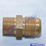 CONECTOR 3/8 M/NPT X 1/2 FLARE 45º